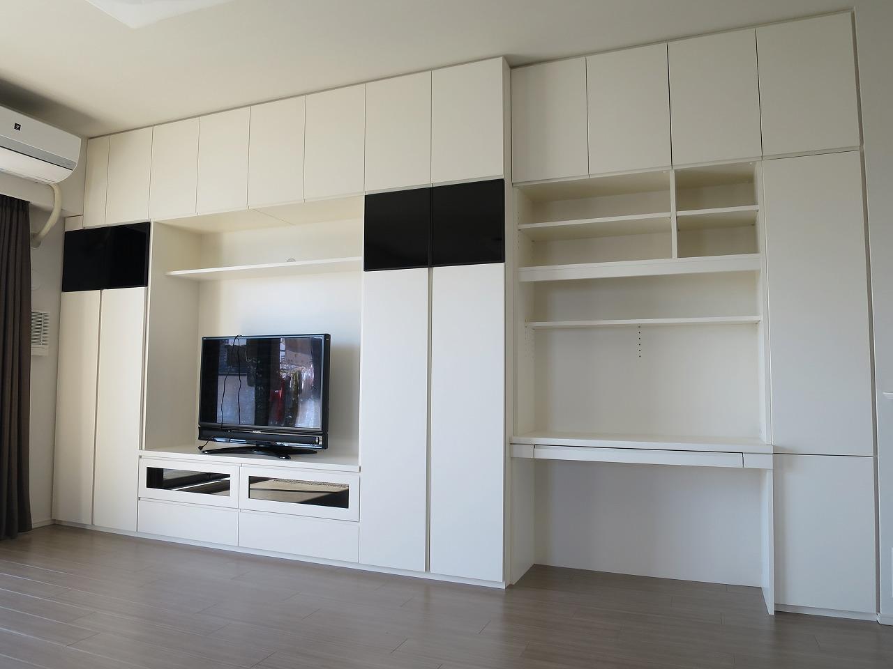 作業デスク付き壁面収納|施工事例|埼玉県・さいたま市|新築マンション